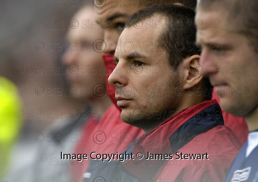 20/10/2007       Copyright Pic: James Stewart.File Name : sct_jspa16_falkirk_v_kilmarnock.THE MYSTERY CONTINUES AS FALKIRK'S ROMAN WALLNER WATCHES ANOTHER MATCH FROM THE BENCH....James Stewart Photo Agency 19 Carronlea Drive, Falkirk. FK2 8DN      Vat Reg No. 607 6932 25.Office     : +44 (0)1324 570906     .Mobile   : +44 (0)7721 416997.Fax         : +44 (0)1324 570906.E-mail  :  jim@jspa.co.uk.If you require further information then contact Jim Stewart on any of the numbers above........