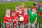 Enjoying the Cul Camp in Castlegregory on Thursday in the local GAA field were: Amy Horgan, Leah Courtney, Adam O'Brien, Josh O'Grainne, Jago Brody, Jamie Finn, Michael Keane and Conor O'Donnell.