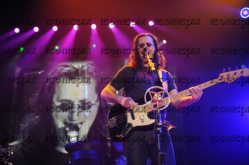 Rush - vocalist bass player Geddy Lee - performing live on the Time Mahcine Tour at Festhalle in Frankfurt Germany - 29 May 2011.  Photo credit: Hans-Martin Issler/IconicPix