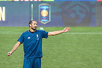 HARRISON, EUA, 21.07.2017 - BARCELONA-JUVENTUS -Giorgio Chiellini da Juventus durante treino um dia antes da partida contra o Barcelona pela International Champions Cup na Red Bull Arena na cidade de Harrison nos Estados Unidos nesta sexta-feira, 21. (Foto: William Volcov/Brazil Photo Press)