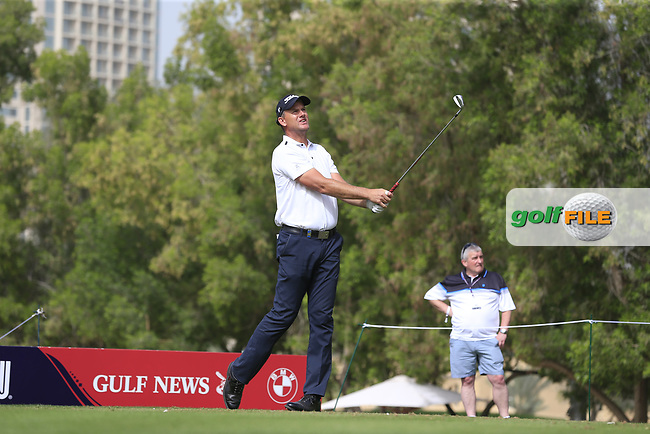 Robert Karlsson (SWE) on the 4th during Round 1 of the Omega Dubai Desert Classic, Emirates Golf Club, Dubai,  United Arab Emirates. 24/01/2019<br /> Picture: Golffile | Thos Caffrey<br /> <br /> <br /> All photo usage must carry mandatory copyright credit (© Golffile | Thos Caffrey)