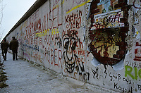 'Virtual breakthrough' - graffiti, Berlin Wall west zone.10 November 1989