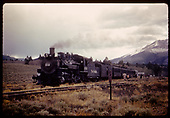 #489 K-36 excursion train - Poncha Pass.<br /> D&amp;RGW  Poncha Pass, CO