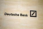 Deutsche bank sign, London, England