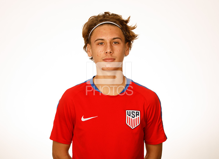 LAKEWOOD RANCH, FL : The U.S. U-17 Men's National Team headshots at Premiere Sports Complex in Lakewood Ranch, Fla., on January 4, 2018. (Photo by Casey Brooke Lawson)