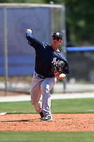 New York Yankees Matt Duran (46) during a minor league spring training game against the Toronto Blue Jays on March 24, 2015 at the Englebert Complex in Dunedin, Florida.  (Mike Janes/Four Seam Images)