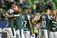 PALMIRA - COLOMBIA, 20-11-2019: Danny Rosero Valencia y Carlos Rodriguez del Cali celebran después del partido entre Deportivo Cali y América de Cali por la fecha 4, cuadrangulares semifinales, de la Liga Águila II 2019 jugado en el estadio Deportivo Cali de la ciudad de Palmira. / Danny Rosero Valencia and Carlos Rodriguez of Cali celebrate after match for the date 4, quadrangulars semifinals, as part Aguila League II 2019 between Deportivo Cali and America de Cali played at Deportivo Cali stadium in Palmira city. Photo: VizzorImage / Gabriel Aponte / Staff