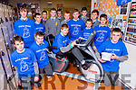 John Bell and his fellow students in St Patricks Secondary school Castleisland who had a Pedal for Pieta House in their school on Tuesday front row l-r: Anthony Bird, Darragh O'Connor, Moss Bell. Back row: Dylan Browne, Padraig O'Connor, Alex Starczak, Brian O'Sullivan, Ronan Walsh, Tommy Curtin, Adam Fallon, Charlie Conway, Tommy Brosnan, Denis O'Mahony, and Ethan Kerin