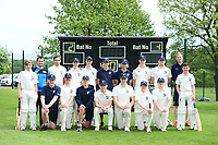 Picture by SWpix.com - 09/052018 Yorkshire Cricket College first ever game v Woodhouse grove School, Apperley Bridge, Bradford - team members and players of take to field for The Yorkshire Cricket College first ever game v Woodhouse Grove School<br />