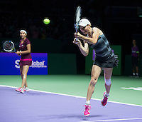 CARA BLACK (ZIM), SANIA MIRZA (IND)<br /> <br /> The BNP Paribas WTA Finals 2014 - The Sports Hub - Singapore - WTA  2014  <br /> <br /> 26 October 2014<br /> <br /> &copy; AMN IMAGES