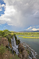 Fall Creek Falls, thunderstorm, Swan Valley Idaho