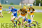 Brendan O'Leary of Abbeydorney in possession against  St Brendans in R2 of the Senior Hurling Championship in Austin Stack Park on Sunday.