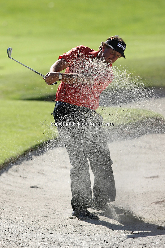02/16/12 Pacific Palisades, CA: Phil Mickelson during the first round of the Northern Trust Open held at the Riviera Country Club