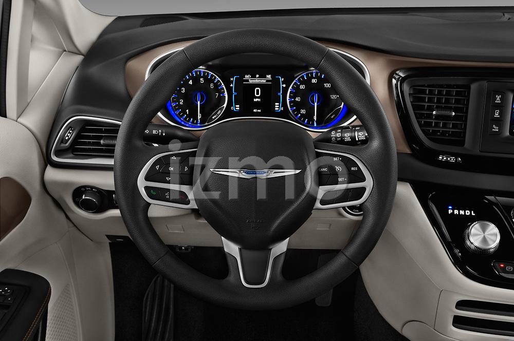 Car pictures of steering wheel view of a 2018 Chrysler Pacifica LX 5 Door Mini Van