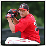 #OTD On This Day, June 5, 2005, Jesus Delgado of the Greenville Bombers struck out three but blew a save opportunity in a game against the Greensboro Grasshoppers at Greenville Municipal Stadium, Greenville, S.C. Delgado pitched in two games for the Marlins in 2008, was involved in a Josh Beckett and Mike Lowell trade, and eventually was released in 2010 by the Reds. (Tom Priddy/Four Seam Images) #MiLB #OnThisDay #MissingBaseball #nobaseball #stayathome #minorleagues #minorleaguebaseball #Baseball #SallyLeague #AloneTogether