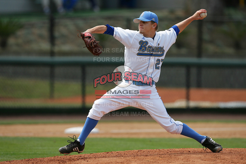 April 3 2010: Rob Rasmussen of the UCLA Bruins during game against the Stanford Cardinal at UCLA in Los Angeles,CA.  Photo by Larry Goren/Four Seam Images