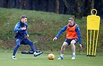 30.11.2018 Rangers training: Borna Barisic and Jordan Houston