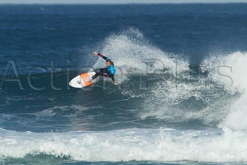 April 2nd 2017, Margaret River,  Perth, Western Australia;   The Drug Aware Margaret River Pro Surfing Competition; Keely Andrew (AUS) cuts back on a wave duringb her heat against Nikki Van Dijk (AUS) on day 5 Van Dijk won the heat