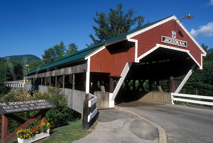 covered bridge, Jackson, NH, New Hampshire, Jackson-Honeymoon Covered Bridge, ca. 1876, in the town of Jackson.