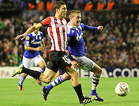 5.04.2012 Bilbao, Spain. Uefa Europa League. Picture show De Marcos in action during match between Athletic Club against Shalke 04 at San Mames stadium