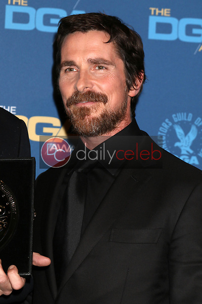 Christian Bale<br /> at the 71st Annual Directors Guild Of America Awards Press Room, Dolby Ballroom, Hollywood, CA 02-02-19<br /> David Edwards/DailyCeleb.com 818-249-4998