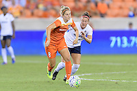 Houston, TX - Thursday Aug. 18, 2016: Ellie Brush, Christine Nairn during a regular season National Women's Soccer League (NWSL) match between the Houston Dash and the Washington Spirit at BBVA Compass Stadium.