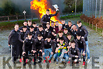 St Brendans College Captain Dara Moynihan and his team mates celebrated their Hogan cup win as the bonfires burnt at his home club Spa Gaa on Sunday evening