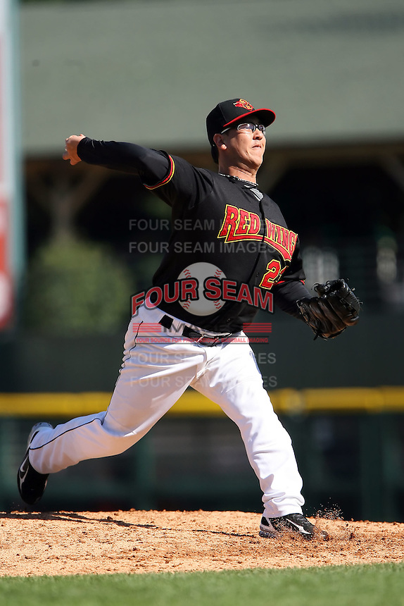 September 2 2008:  Pitcher Danny Graves (23) of the Rochester Red Wings, Class-AAA affiliate of the Minnesota Twins, during a game at Frontier Field in Rochester, NY.  Photo by:  Mike Janes/Four Seam Images