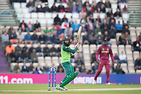Hashim Amla  (South Africa) seems to watch the bvall into the hands of Chris Gayle (West Indies) at slip during South Africa vs West Indies, ICC World Cup Cricket at the Hampshire Bowl on 10th June 2019