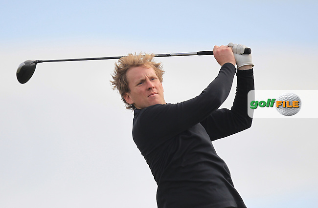 Nick MacAndrew (SCO) on the 14th tee during Round 1 of the Flogas Irish Amateur Open Championship at Royal Dublin on Thursday 5th May 2016.<br /> Picture:  Thos Caffrey / www.golffile.ie