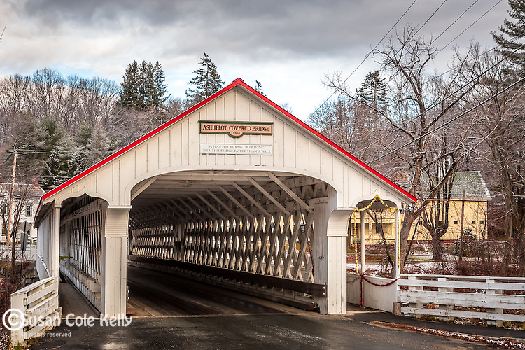 The Ashuelot covered bridge in Winchester, New Hampshire, USA