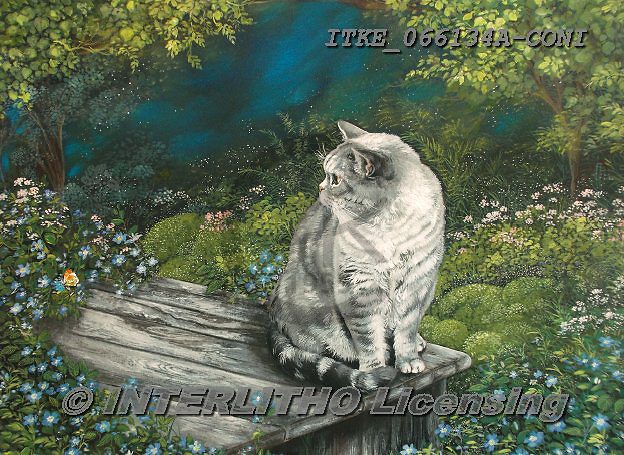 Isabella, REALISTIC ANIMALS, REALISTISCHE TIERE, ANIMALES REALISTICOS, paintings+++++,ITKE066134A-CONI,#a#, EVERYDAY,cats