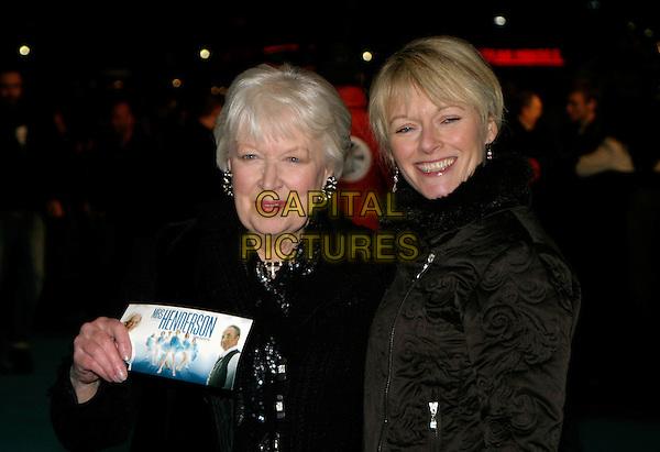 "JUNE WHITFIELD & GUEST.""Mrs. Henderson Presents"" - UK film premiere at Vue West End, London, UK..November 23rd, 2005.Ref: AH.half length black ticket.www.capitalpictures.com.sales@capitalpictures.com.© Capital Pictures."