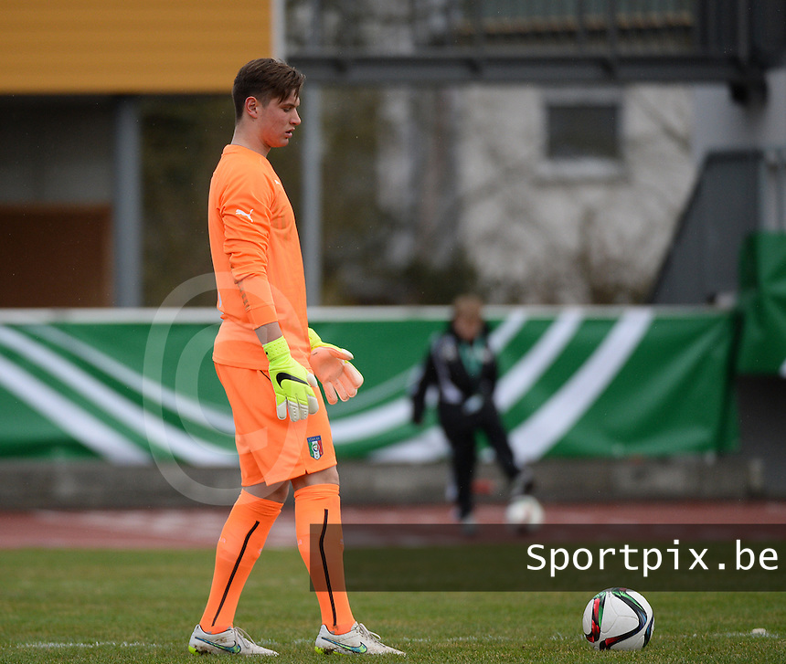 20150321 - Wetzlar , GERMANY  : pictured during the soccer match between Under 17 teams of Italy and Ukraine , on the first matchday in group 8 of the UEFA Elite Round Under 17 at Stadion Wetzlar , Wetzlar Germany . saturday 21 th March 2015 . PHOTO DAVID CATRY