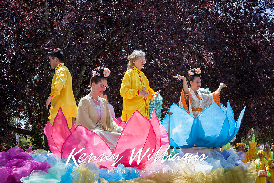Falun Dafa Group, Kent Cornucopia Days 2017, Kent, Washington, USA.