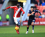 Alex Mowatt of Leeds chases Kenneth Omerou of Middlesbrough - Middlesbrough vs. Leeds United - Skybet Championship - Riverside Stadium - Middlesbrough - 21/02/2015 Pic Philip Oldham/Sportimage