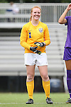 14 September 2014: LSU's Lily Alfeld (NZL). The Duke University Blue Devils hosted the Louisiana State University Tigers at Koskinen Stadium in Durham, North Carolina in a 2014 NCAA Division I Women's Soccer match. Duke won the game 1-0.
