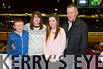 Jordana O'Sullivan celebrating her 20th Birthday with family at the Kingdom Greyhound Stadium on Friday.  Shane O'Sullivan, Marie O'Sullivan, Jordana O'Sullivan and Patrick O'Sullivan from Listowel