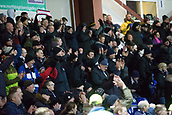2nd December 2017, Global Energy Stadium, Dingwall, Scotland; Scottish Premiership football, Ross County versus Dundee; Dundee fans celebrate at their win full time
