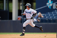 Tampa Tarpons Matt Pita (6) running the bases after hitting a double a Florida State League game against the Lakeland Flying Tigers on April 7, 2019 at George M. Steinbrenner Field in Tampa, Florida.  Tampa defeated Lakeland 3-2.  (Mike Janes/Four Seam Images)