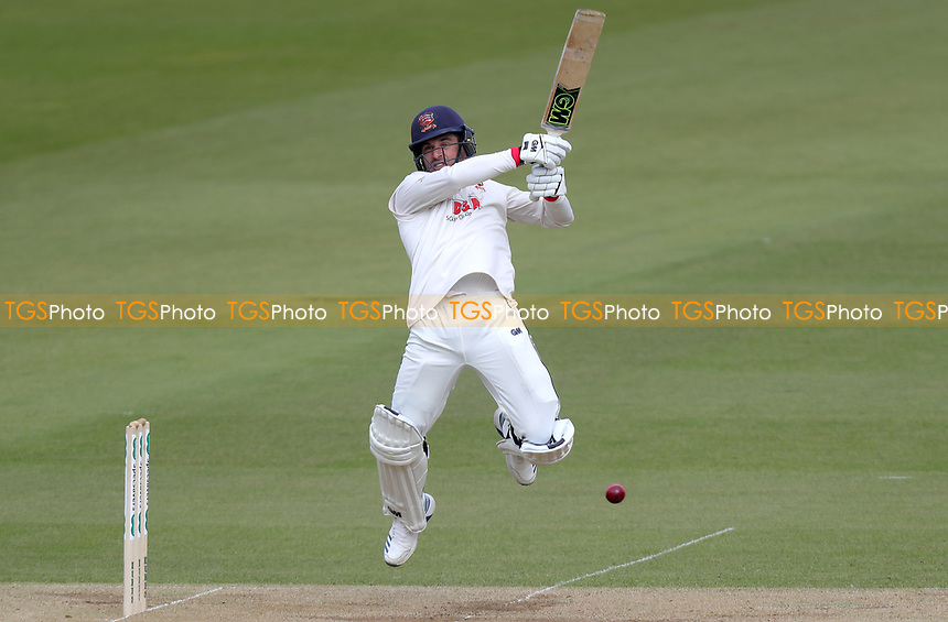 Ryan ten Doeschate  of Essex leaps to control the ball during Surrey CCC vs Essex CCC, Specsavers County Championship Division 1 Cricket at the Kia Oval on 13th April 2019