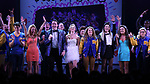 Kyle Selig, Kate Rockwell, Grey Henson, Taylor Louderman, Erika Henningsen, Barrett Wilbert Weed, Ashley Park, Kerry Butler and cast during the Broadway Opening Night Performance Curtain Call of 'Mean Girls' at the August Wilson Theatre on April 8, 2018 in New York City.