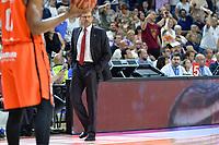 MADRID, ESPAÑA - 11 DE JUNIO DE 2017: Pedro Martinez durante el partido entre Real Madrid y Valencia Basket, correspondiente al segundo encuentro de playoff de la final de la Liga Endesa, disputado en el WiZink Center de Madrid. (Foto: Mateo Villalba-Agencia LOF)