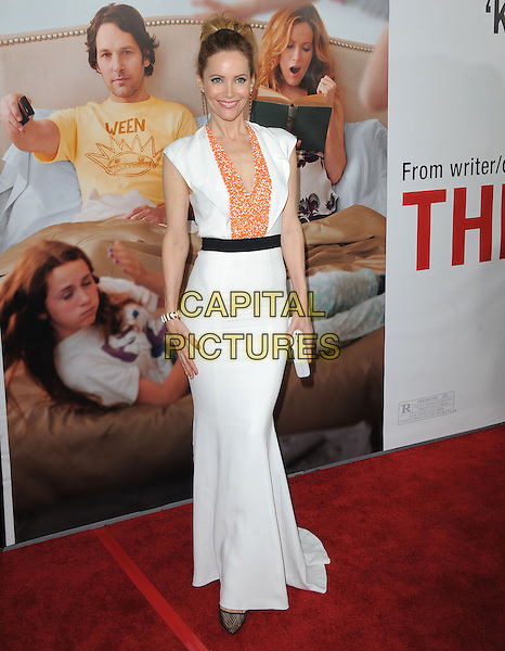 "Leslie Mann.""This Is 40"" Los Angeles Premiere held at Grauman's Chinese Theatre, Hollywood, California, USA..December 12th, 2012.full length dress black white orange pattern belt clutch bag .CAP/DVS.©DVS/Capital Pictures."