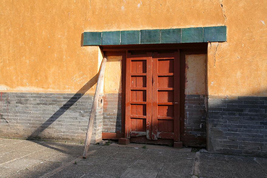 Doorway at Amarbayasgalant Khiid Monastery Northern Mongolia