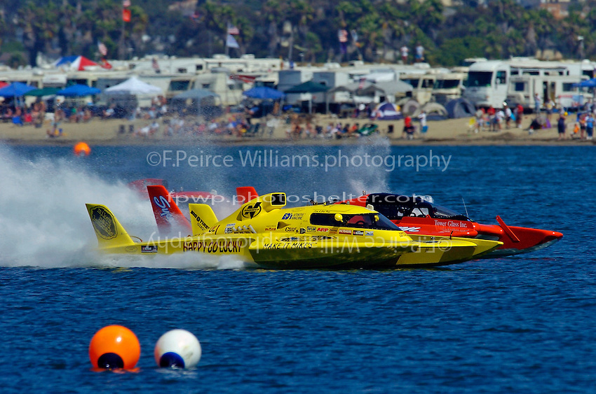 "Greg Hopp, UL-1 ""Happy Go Lucky"" and Kevin Alyesworth, UL-5 (Unlimited Light hydroplane(s)"