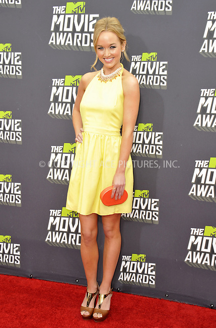 WWW.ACEPIXS.COM....April 14, 2013, Los Angeles, Ca.......Kelley Jakle arriving at the 2013 MTV Movie Awards at Sony Pictures Studios on April 14, 2013 in Culver City, California.......By Line: Peter West/ACE Pictures....ACE Pictures, Inc..Tel: 646 769 0430..Email: info@acepixs.com