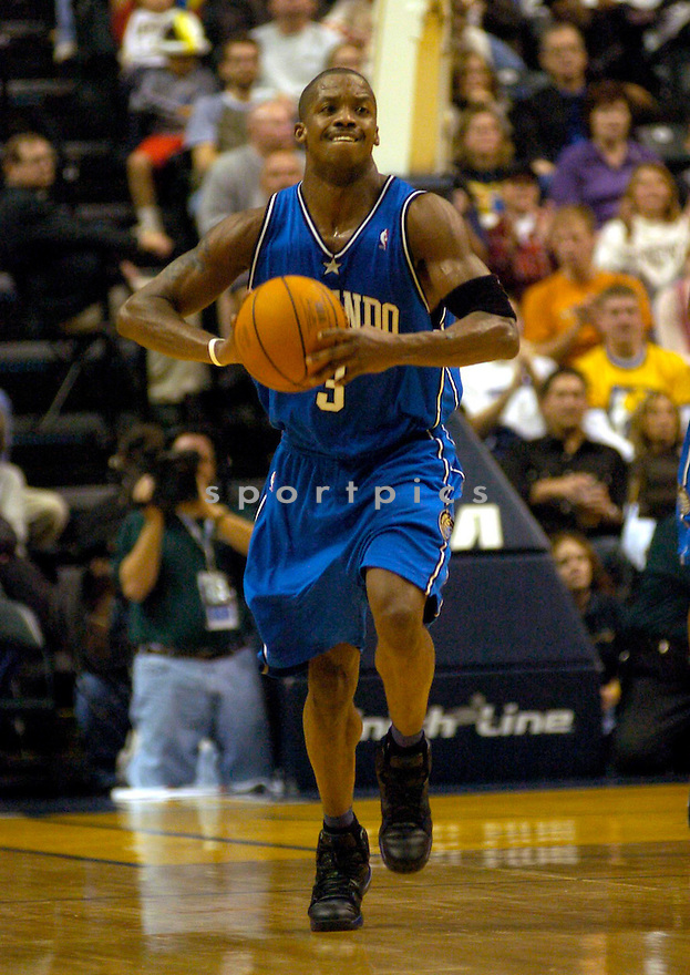 Steve Francis during the Orlando Magic v. Indiana Pacers game on November 20, 2004...Magic win 86-83..Chris Bernacchi / SportPics