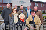 Protesting at the Tralee Town Council meeting on the Tralee Traffic Plan on Tuesday evening were front l-r: Maeve O'Donnell and Tommy Collins, Back l-r: Brian O'Donoghue, Aoife Ní Coileáin , Ciaran Moriarty, Gerard Hussey, Eddie Riordan and Jim Griffin.