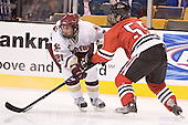 Benn Ferreiro, Brian Deeth - The Boston College Eagles defeated the Northeastern University Huskies 5-2 in the opening game of the 2006 Beanpot at TD Banknorth Garden in Boston, MA, on February 6, 2006.